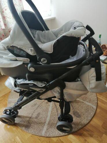 Prodajem italijanska dečija kolica, marke CAM, 3u1, rotirajuća, svetlo