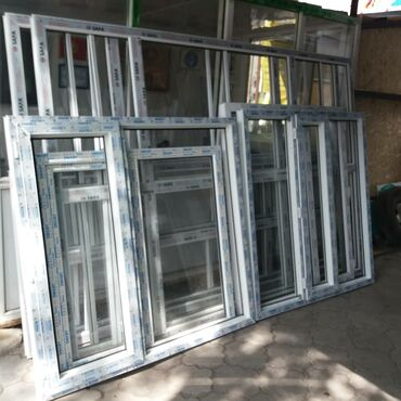 Окна, двери, витражи - Кыргызстан: Окна, Двери, Подоконники, Москитные сетки, Витражи | Установка | Стаж 3-5 лет опыта