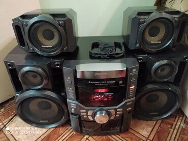 музыкальная-колонка в Кыргызстан: Panasonic stereo system SA-VK70D Музыкальный центр, работает хорошо