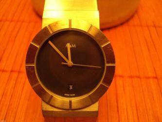 M&M-rucni kvarcni sat datumar -5 rubina. Zlatni ronda-mehanizam. - Nis
