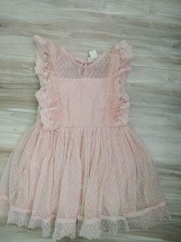 Dečija odeća i obuća - Sopot: Haljina za devojčice u neznoj roze boji. Velicina 3-4