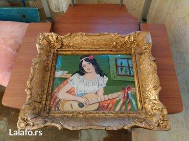 Devojka - Srbija: Goblen ručni rad devojka sa gitarom
