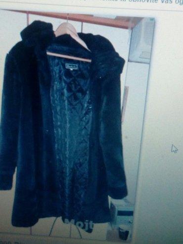 Crna vestacka bunda kao plis mekana kao nova samo probana kad je - Beograd