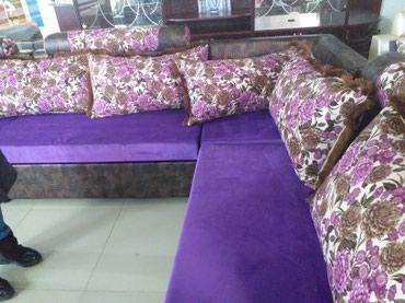"""вязанные наволочки на диванные подушки в Кыргызстан: Продаю диван уголок размеры 4×2.20 поролон российский """"латекс""""сидушки"""