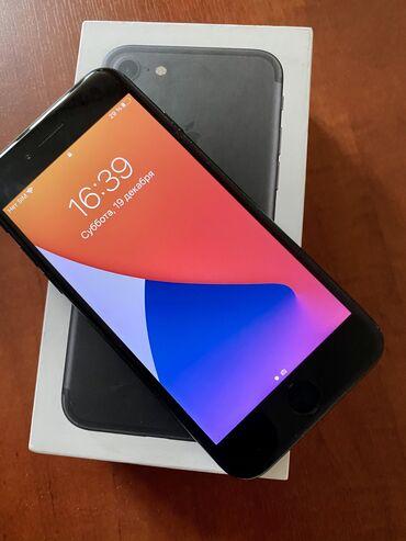 купить iphone бу в рассрочку в Кыргызстан: Б/У iPhone 7 128 ГБ Черный (Jet Black)