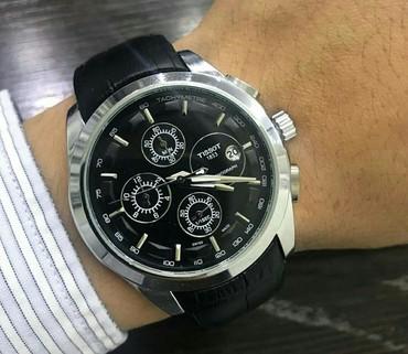 женские часы tissot оригинал в Кыргызстан: Черные Мужские Наручные часы Tissot