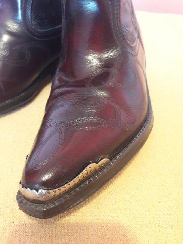 Kaubojke - Srbija: Čizme kaubojke, kožne, nove, broj 38, prodajem ih jer mi broj ne