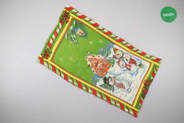 Кухонний новорічний рушник   Розмір: 65 х 38 см  Стан гарний