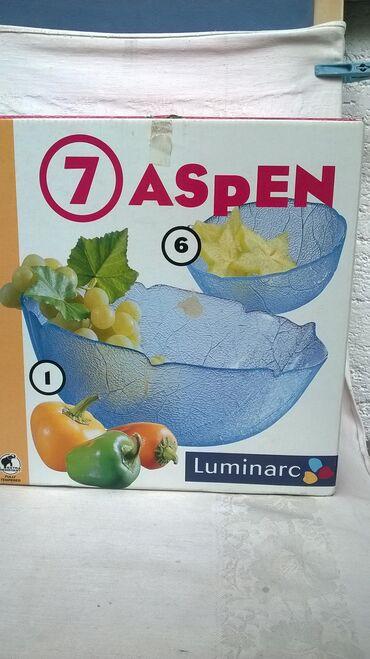 Esarpa-new-yorker-icine-cm-x-cm-materijal-viskoza - Srbija: Luminarc 7 Aspen:1 velika 23 cm. + 6 manjih 12 cm. cinija, kao novo