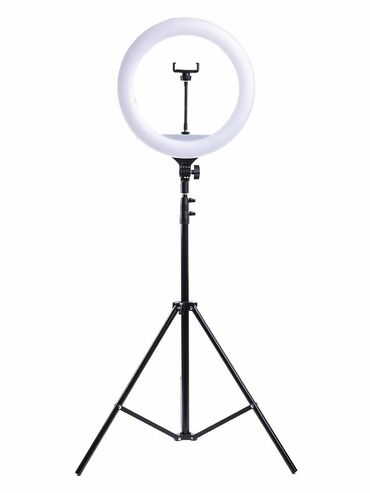 Кольцевая лампа  Диаметр 26см  Длина штатива 2,2 метра  Доставка по го