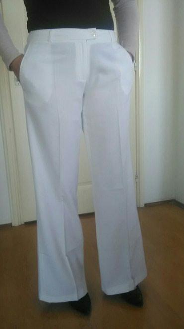 Pantalone-kvalitetne-malo - Srbija: Pantalone lanena 100% na ivicu kvalitetne I ocuvane.Vel.42