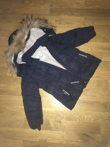 Kуртка балонка для мальчика возрастом 4-5 размер М, купленно за 75 азн