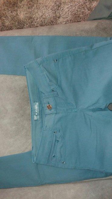 Stoji lepo - Srbija: Kao nove prelepe pantalone, boja je pastelno plava, materijal lep