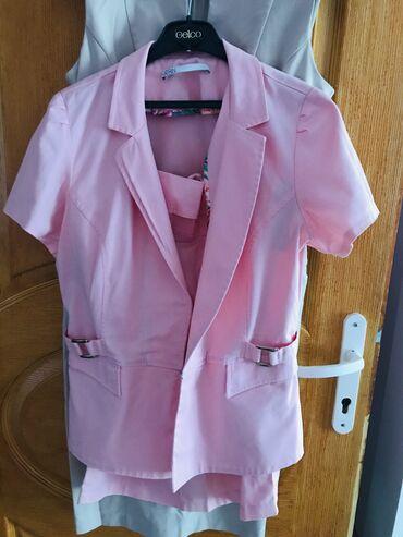 Haljine | Zrenjanin: (Novo) Ženski komplet KATRIN suknja i lep sako na kratke rukave ganz