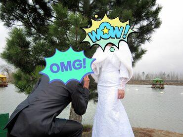 бу свадебное платье в Кыргызстан: Продаю свадебное платье ручной работы, шилось на заказ, размер на