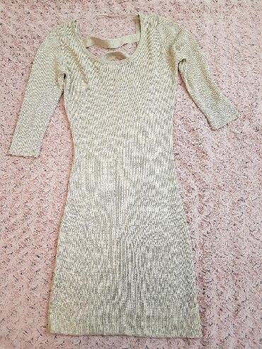Boje-zenska - Srbija: Na prodaju zenska haljinica bež boje sa diskretnim sljokicama. Jednom