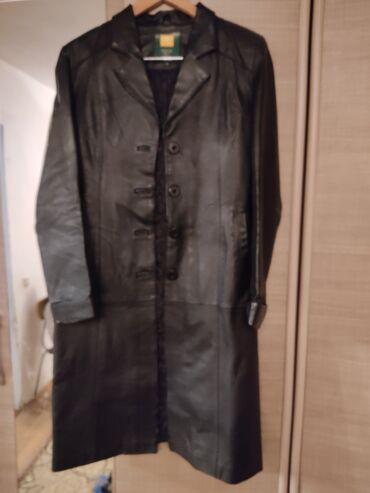 brjuki razmer 46 в Кыргызстан: Кожаный плащ 46 размер, состояние очень хорошее