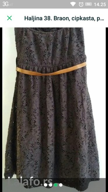 Haljina-cipkasta - Srbija: Top haljina cipkasta sa postavom. duzina 62cm.Ima dosta lasteksa.Boja