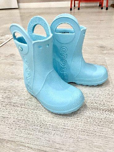 Продаю резиновые сапожки Crocs, оригинал, одели 1 раз, в подъеме