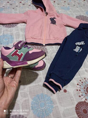 спортивка для детей в Кыргызстан: Продаю БУ турецкий Спортивный костюм и обувь для девочки 1-2 года1-2
