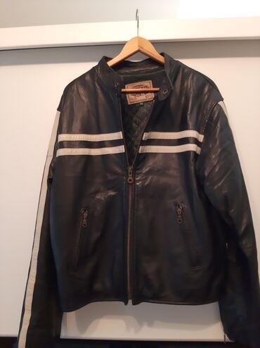 Muska kozna jakna - Srbija: Muska kozna jakna Coton crna velicina XXL,slike saljem na viber