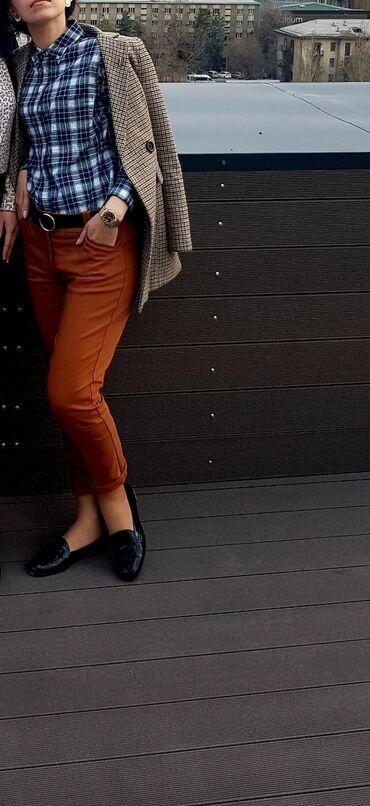 Продаю турецкие штаны коричневого-рыжего цвета в отличном состоянии