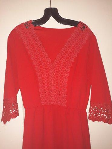 Crvena plisana haljina - Srbija: Svecana crvena haljina  velicina l/xl