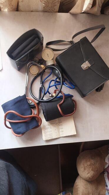 Тонометры - Кыргызстан: Продаю тонометр, в отличном состоянии. Фонендоскоп без мембраны.Есть