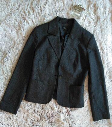 Kostimi - Srbija: Crni sako odlicnog kvaliteta, vuna/pamuk.Ramena 39, pazuh 49, duzina