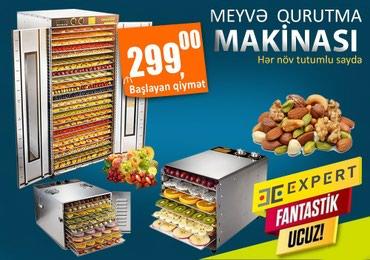 Bakı şəhərində Expert firmasinin Meyve Qurutma Makinalari.