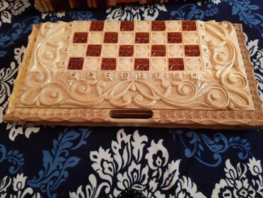 Нарды в Кыргызстан: Продаю нарды с шахматами. Ручной работы качественные работа. ЦЕНА