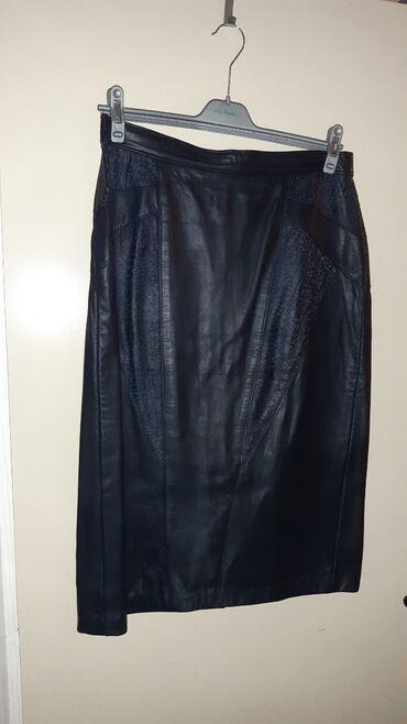Φουστα γνησιο δερμα μεγεθος L σε ισια γραμμη πενσιλ ελαχιστα φορεμενη