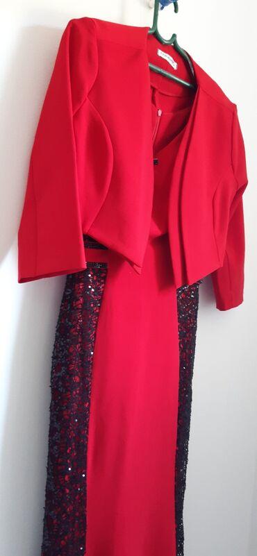 Crvena svečana haljina, br 38
