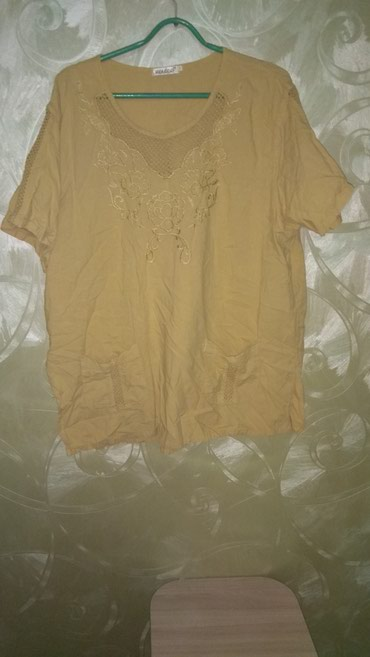 Женская футболка. Чистое хб. Размер 48-50. в Бишкек