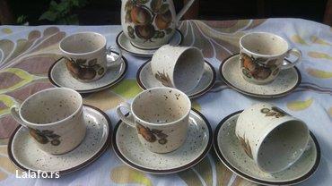 Prelep set šoljice, posuda za mlekooo (može biti i čajnik)  - Cuprija - slika 6
