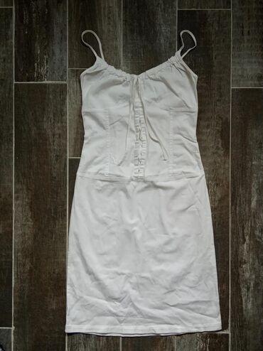 Haljine | Novi Banovci: Lepa amisu bela haljinica, broj 34. Vezuje se iznad grudi, mozete da p