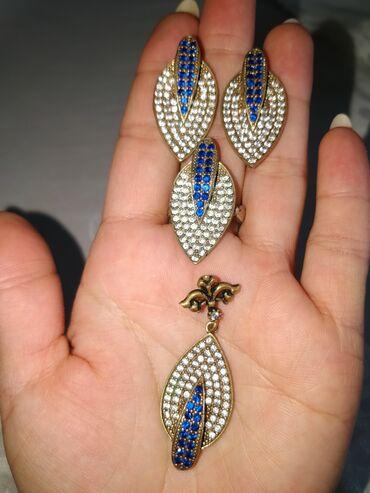 Продаю серьги, кулон, кольцо серебро золотыми пластинами