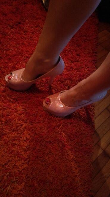 Carape sa prstima - Srbija: Cipele sa otvorenim prstima, broj 38. Par puta nošene, kao nove su