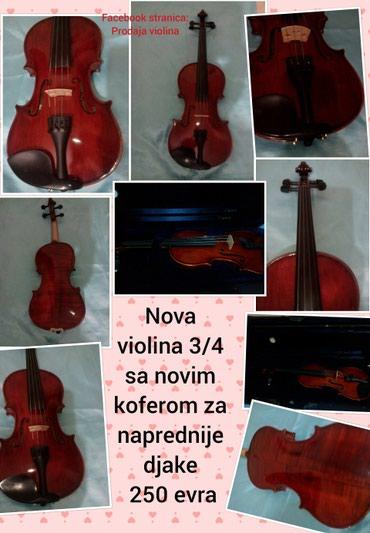 Sport i hobi - Pozarevac: Nova violina 3/4 sa novim koferom, 250eza naprednije djakeu kompletu