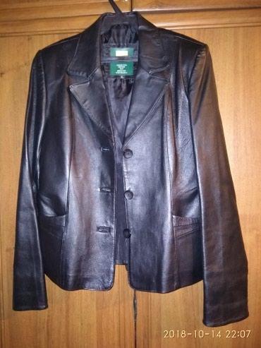 Женская одежда в Шопоков: Кожаный пиджак 40;42 размер состояние отличное