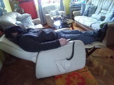 Fotelja teska koza,relaxi na struju,extra stanje,kupljena u njemackoj. - Sombor