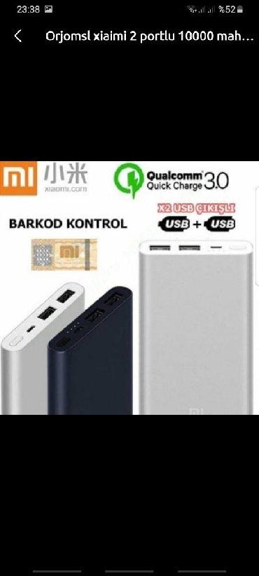 Portativ enerji yükləyicilər Azərbaycanda: Xiaomi mi 2 porrlu orjinal zemanetli 10000.mah powerbanklarMagaza
