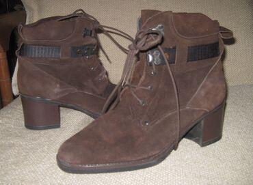 Bez cipele - Srbija: Cipele od prevrnute kože YOUNGTIMEUnutrašnje gazište 25cm, štikla 6cm