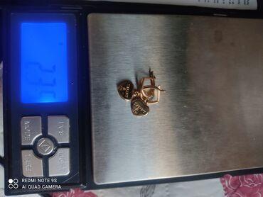 qizil qolbaqlar ve qiymetleri в Азербайджан: Qızıl sırğa 585prob çəkisi 2.33 qiyməti 200 azn
