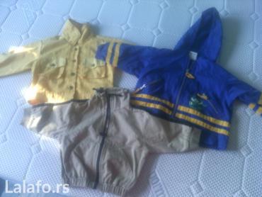 Dečija odeća i obuća - Rumenka: Jaknice tanke za decu od 1 do 2 god .Muske,Ocuvane.Cena po kom 300din
