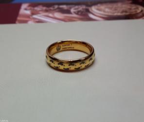 """чёрное кольцо из вольфрама в Кыргызстан: Кольцо """"ножки младенца"""" из вольфрама под золото"""