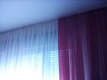 Bela zavesa sa bordo draperima prelepo italijanska zavesa 6m