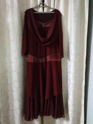 женское платье 52 в Кыргызстан: Женское платье. Цвет сушёной вишни. Размер 52. В хорошем состоянии