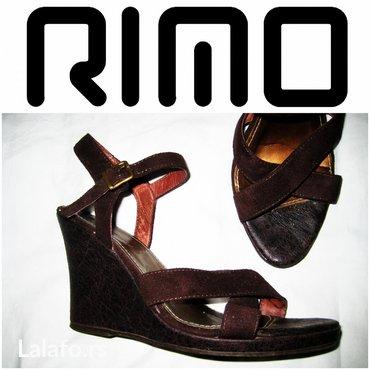*** rimo *** 38 sandale na platformu  sandale  brenda rimo. - Beograd