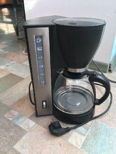 рожковая кофеварка с капучинатором в Кыргызстан: Кофеварка Vitek VT-1509 BK. Объём 1,2 л. Состояние отличное, почти не